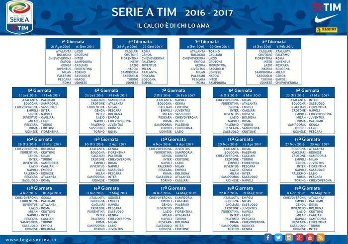 Campionato Serie A Calendario.Calendario Serie A Avvio In Salita Per La Juventus Foto