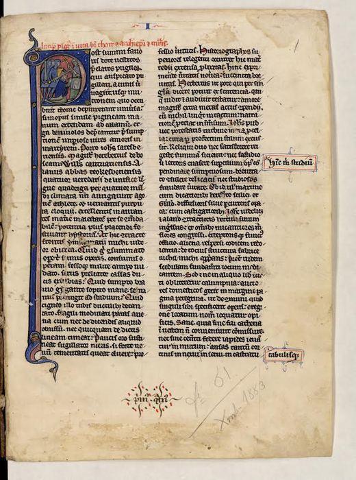 In mostra scritti di Tommaso da Celano