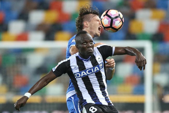 Calcio: Udinese, Badu bloccato da gastroenterite