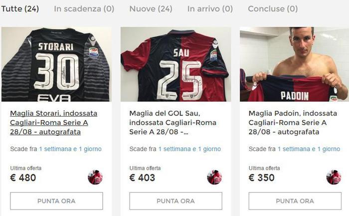 Sisma: asta benefica con maglie Cagliari