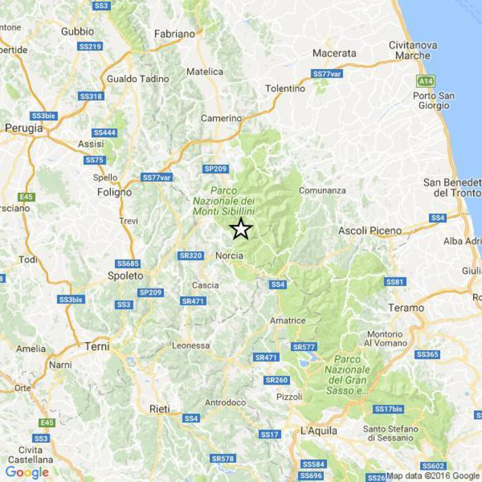 Scossa del 4.3 in provincia di Perugia
