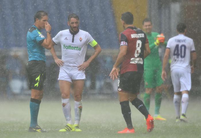 Troppa pioggia Genoa-Fiorentina rinviata