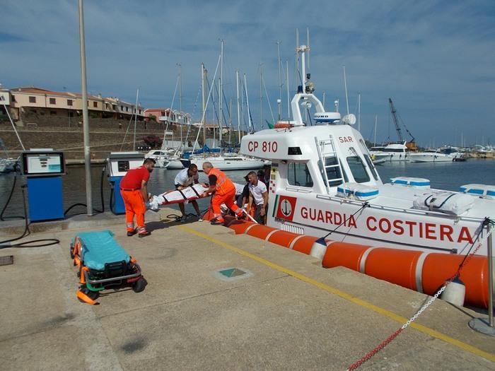Turista ferita soccorsa all'Asinara
