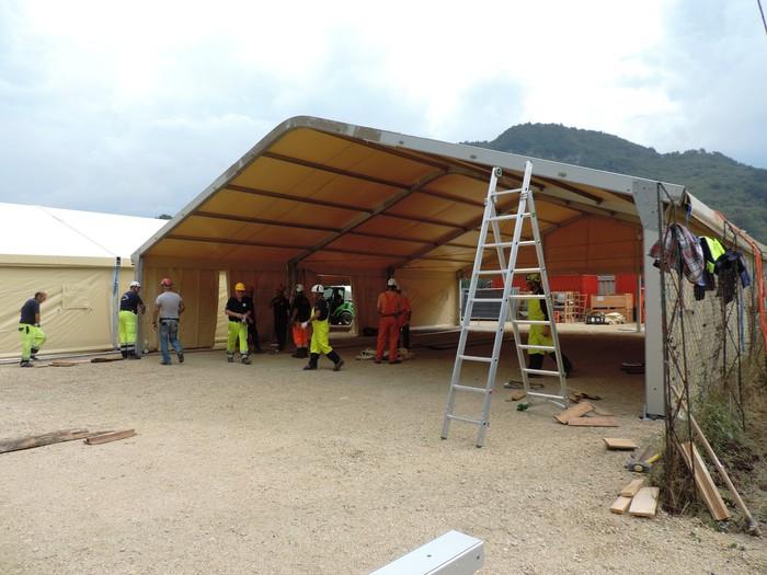 Inaugurata scuola in legno ad Acquasanta