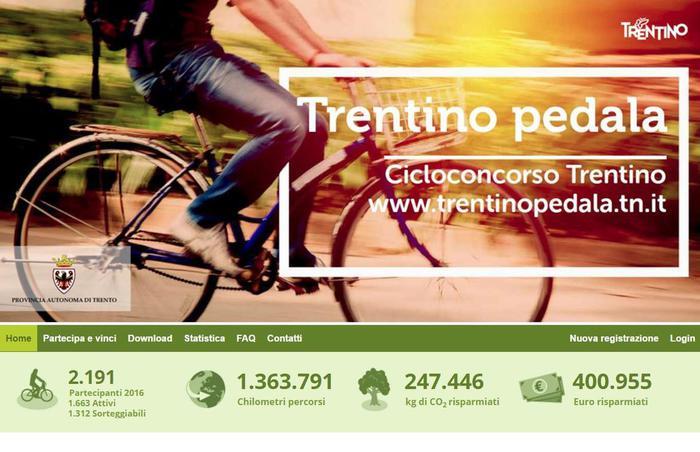 Trasporti: in più di 2000 al cicloconcorso 'Trentino pedala'