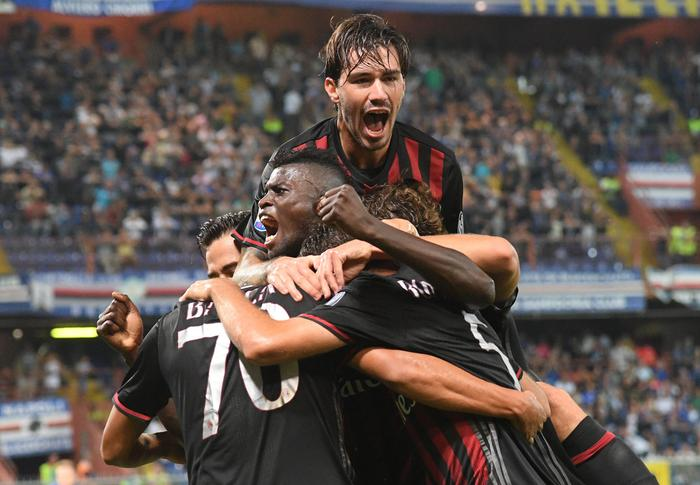 Sampdoria-Milan 0-1 , gol di Bacca