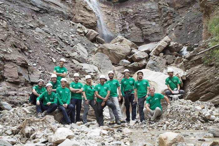 Astronauti studiano canyon Bletterbach