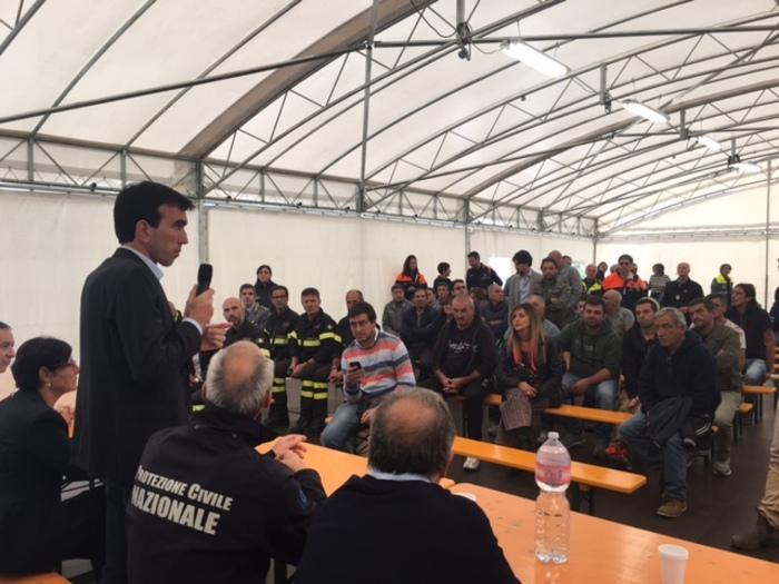Martina incontra agricoltori del sisma