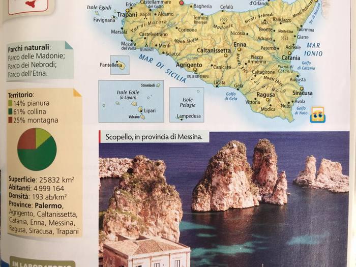 Scuola: errore in sussidiario, 'Scopello provincia Messina'