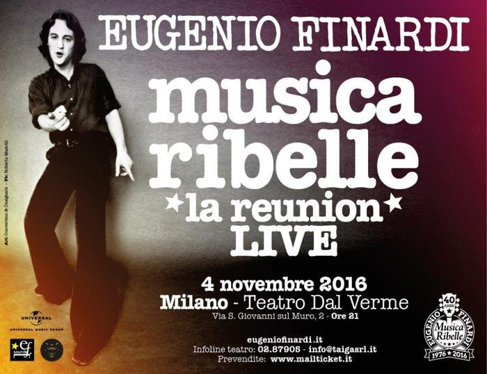 Finardi, esce 40 anni di Musica Ribelle