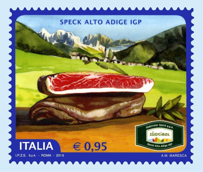 Un francobollo per lo speck altoatesino
