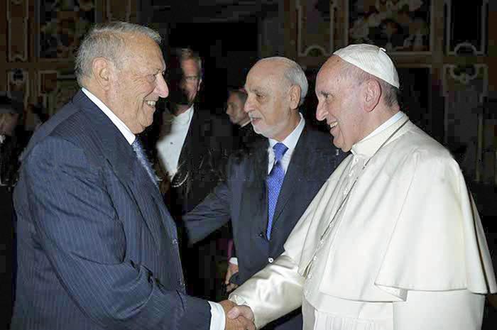 Giornalisti dal papa, c'era anche Dachan