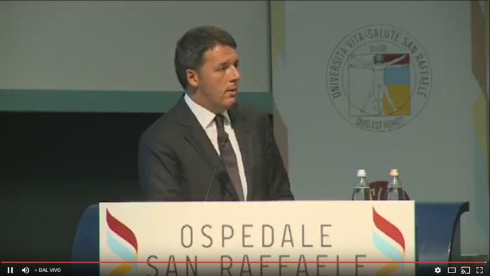 Renzi al San Raffaele di Milano: 'Su sanità tagliato anche troppo' - diretta -