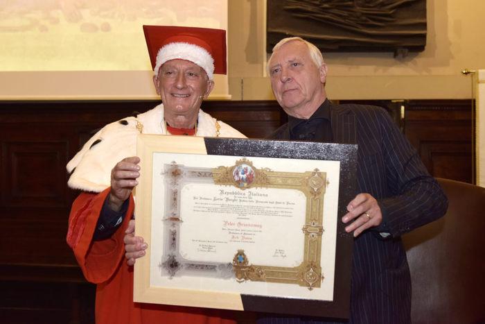 Peter Greenaway prof. ad honorem a Parma