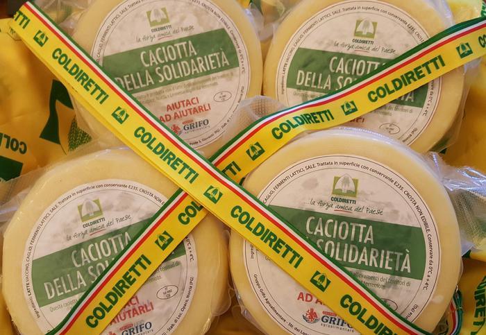 Sisma, Coldiretti, caciotta solidarietà