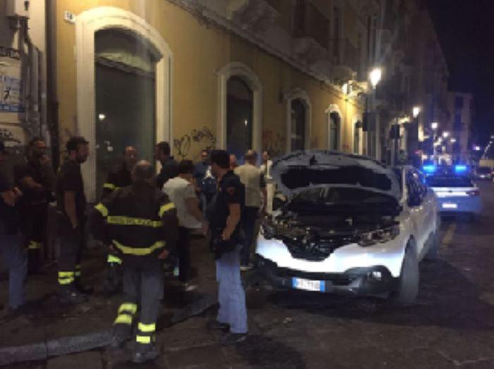 Gattino in motore auto a Catania,salvato