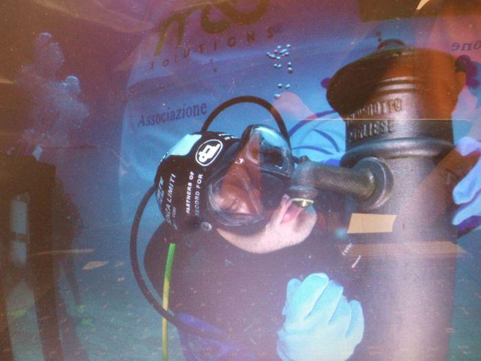 Fontanina acqua a 10 metri profondità
