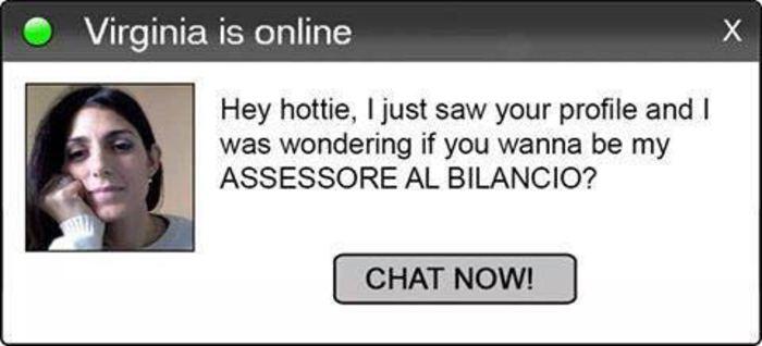 Finta Raggi in chat, vuoi essere mio assessore Bilancio?