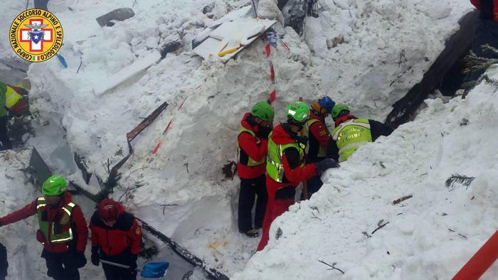 Hotel Rigopiano, i soccorritori: