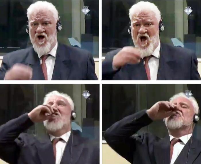Crimini di guerra in ex Jugoslavia, condannato beve il veleno in Tribunale