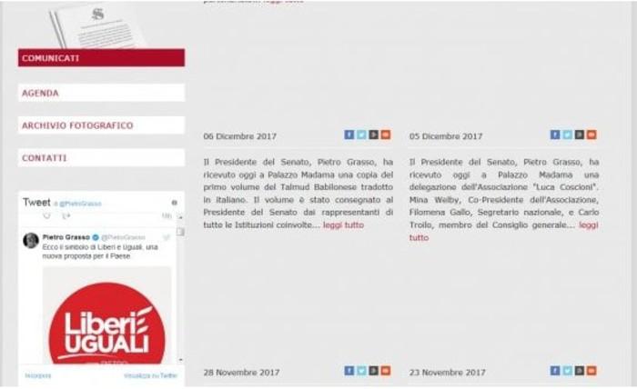 Polemica su tweet grasso su sito senato minzolini come for Sito senato