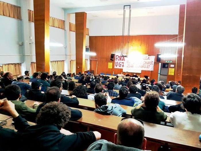 G7 a Taormina, studenti universitari in assemblea a Palermo$