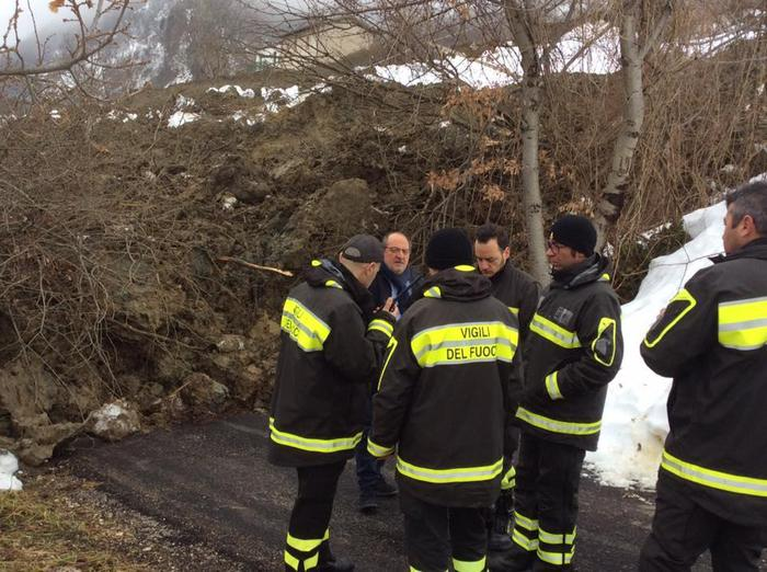 In Abruzzo dopo neve è emergenza frane