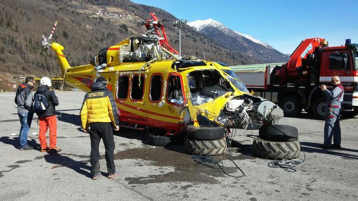 Elicottero Aw139 : Recuperato elicottero precipitato trentino aa s ansa
