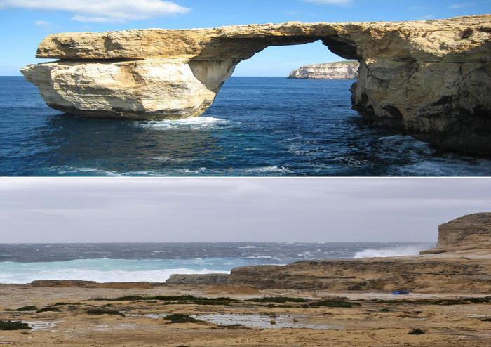 Malta crolla roccia 39 finestra azzurra 39 europa - Malta finestra azzurra ...