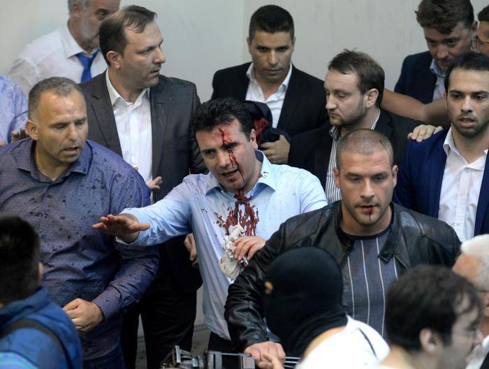 Macedonia, sgomberato Parlamento