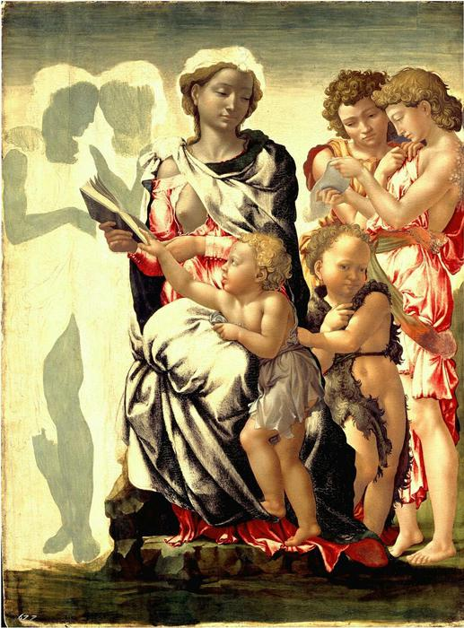 Volto Michelangelo in Madonna Manchester - Arte