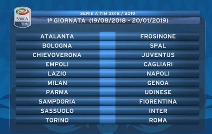 Serie A Tim Calendario.Calendario Serie A 2017 18 Giornata Per Giornata Scarica E
