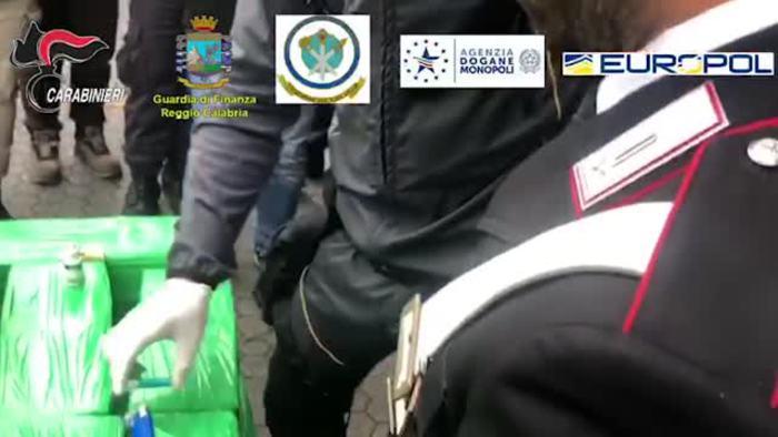 Una tonnellata di cocaina tra le banane al porto di Gioia Tauro - Italia - Agenzia ANSA