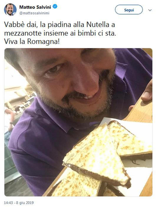 Attacco di Salvini alla Nutella, è polemica
