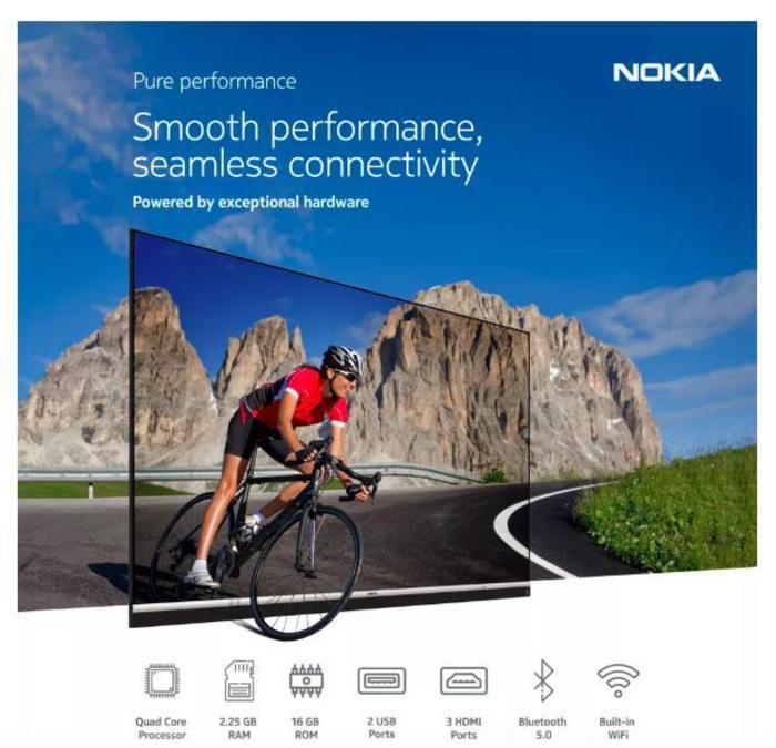 Ecco la prima smart tv a marchio Nokia