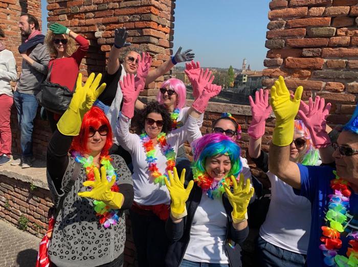 Risultati immagini per corteo femminista a Verona immagini