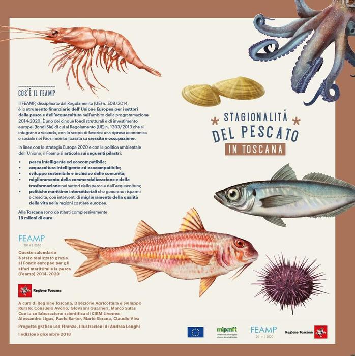 Calendario Pesca 2020.In Omaggio Con Tirreno Il Calendario Del Pescato Toscano