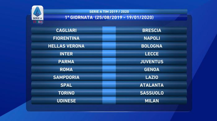 Calendario Tornei Atp 2020.Serie A Ecco Il Calendario Si Parte Il 24 Agosto Alla