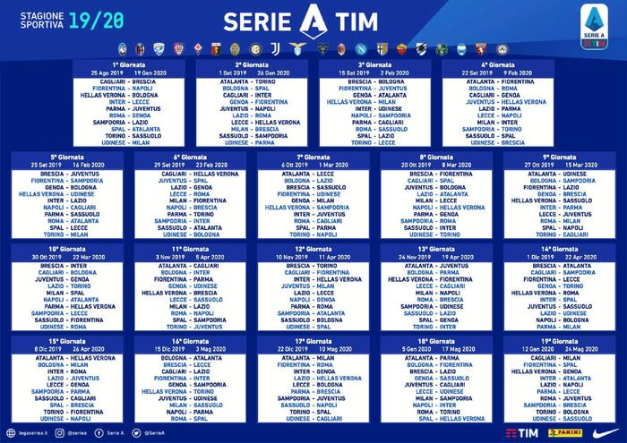 Partite Real Madrid Calendario.Calendario Serie A Partenza Con Il Botto Juve Napoli Gia
