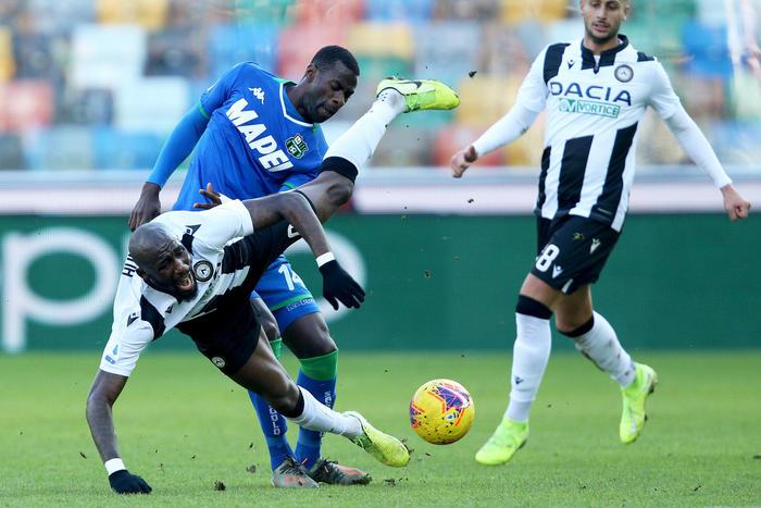 Serie A: Udinese Sassuolo 3-0, in gol Sema, Okaka e De Paul