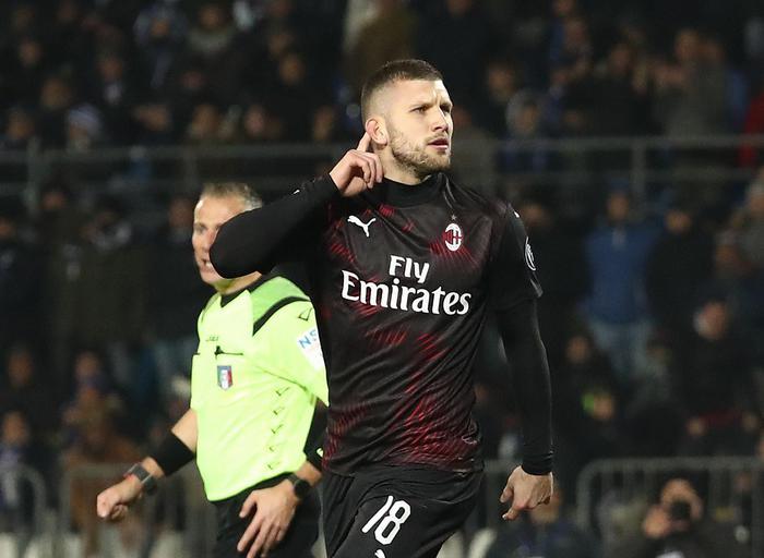 Serie A: Brescia Milan 0-1, decide Rebic