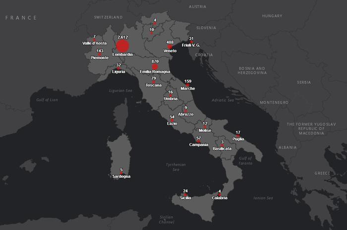 Cartina Mondo Online.Coronavirus Protezione Civile Online La Mappa Dei Contagi Politica Ansa