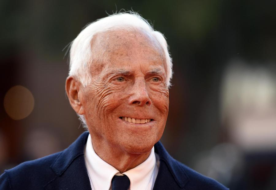 Italian fashion designer Giorgio Armani arrives for the screening of 'La Grande Guerra' at the 13th annual Rome Film Festival, in Rome, Italy, 26 October 2018. The film festival runs from 18 to 28 October.  ANSA/CLAUDIO ONORATI © ANSA