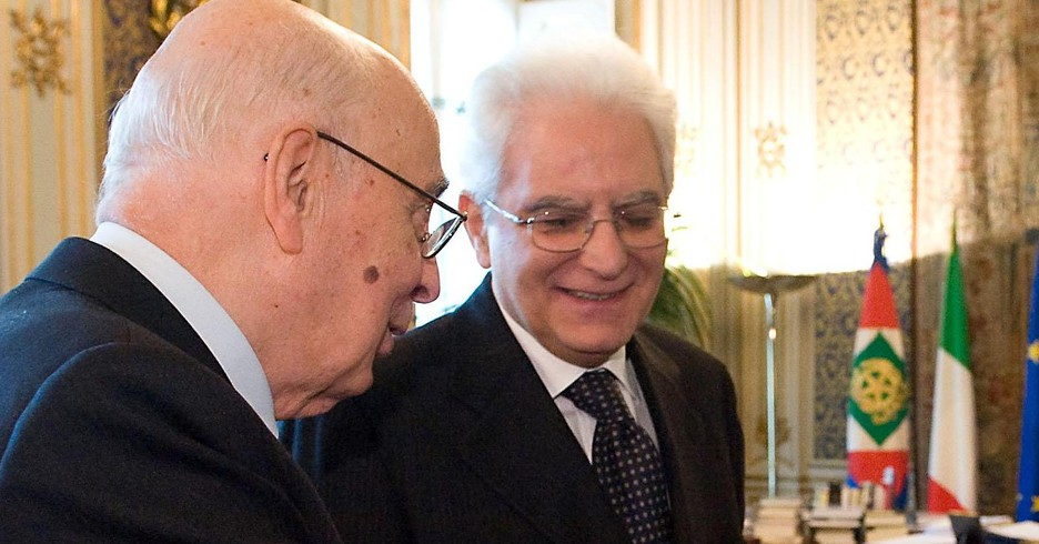 Giorgio Napolitano e Sergio Mattarella (ANSA)