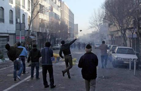 scontri di strada a Teheran