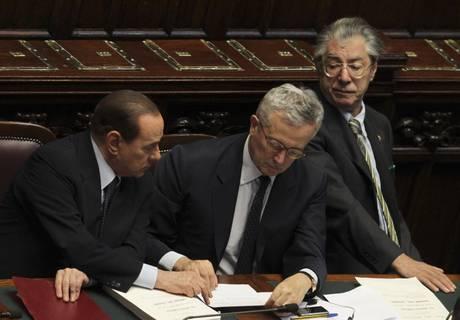 Berlusconi, Tremonti e Bossi