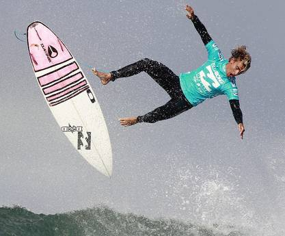 Surfing ASP world tour event in Jeffreys Bay