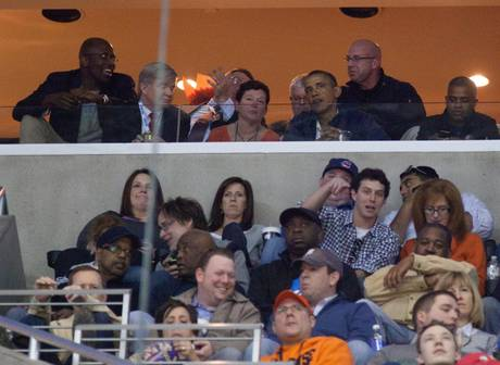 Obama at Syracuse/Marquette game