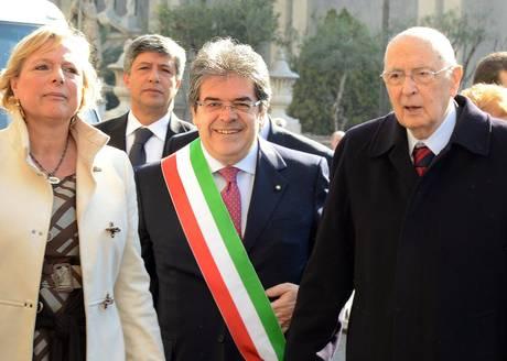 """Napolitano a Catania: """"Città che si muove; segnale importante""""$"""