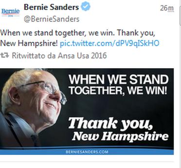 Bernie Sanders vince in New Hampshire